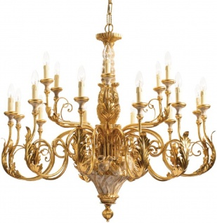 Casa Padrino Luxus Barock Kronleuchter Gold Ø 110 x H. 100 cm - Prunkvoller Hotel & Restaurant Kronleuchter