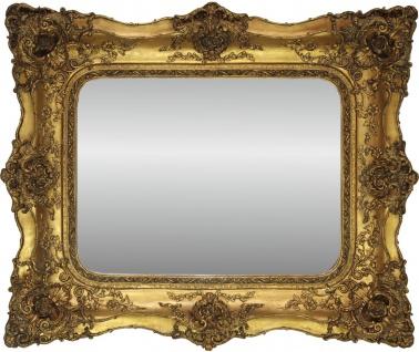 Casa Padrino Barock Spiegel Gold Antik Stil mit Doppelrahmen - 120 x 105 cm - Edel & Prunkvoller Wandspiegel