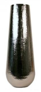 Casa Padrino Aluminium Vase Silber Ø 35 x H. 100 cm - Luxus Deko Vase
