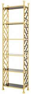Casa Padrino Designer Regalschrank Gold 65 x 32 x H. 230 cm - Luxus Qualität