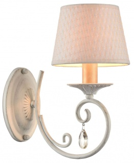 Casa Padrino Barock Wandleuchte Weiß / Gold 15 x 26 x H. 29 cm - Barockstil Wandlampe