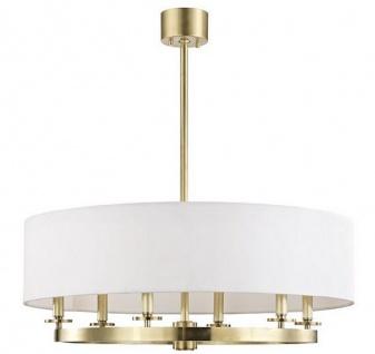 Casa Padrino Luxus Hängeleuchte Antik Messingfarben / Weiß Ø 78 x H. 30, 5 cm - Luxus Kollektion