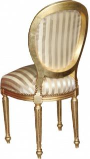 Casa Padrino Barock Esszimmer Stuhl Gold / Gold Mod2 / Rund - Vorschau 2