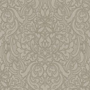 Casa Padrino Barock Textiltapete Braun / Grau 10, 05 x 0, 53 m - Deko Accessoires