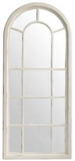 Casa Padrino Landhausstil Spiegel Antik Weiß 70 x 4 x H. 160 cm - Handgefertigter Wandspiegel im Shabby Chic Look