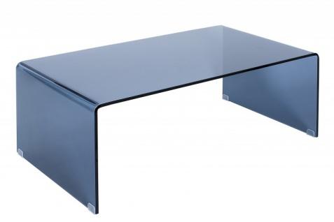 Casa Padrino Designer Glas Couchtisch Anthrazit 110 x 60cm x H.40 cm - Wohnzimmer Salon Tisch