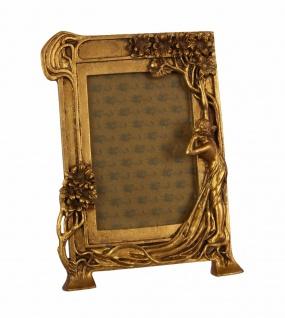 Casa Padrino Jugendstil Bilderrahmen Gold Antik Stil 18.9 x 25.4 cm - Bilder Rahmen Barock Foto Rahmen
