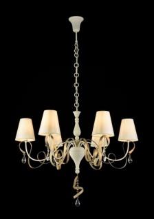 Casa Padrino Barock Kristall Decken Kronleuchter Weiß 87 x H 65 cm Antik Stil - Möbel Lüster Leuchter Hängeleuchte Hängelampe