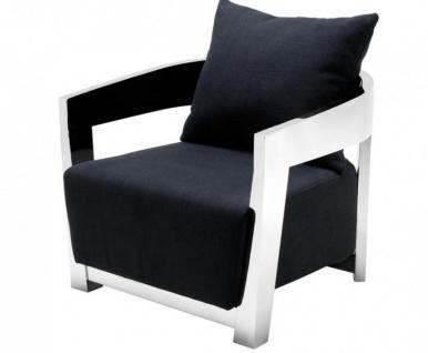 Casa Padrino Luxus Art Deco Sessel - Luxus Qualität