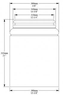 Casa Padrino Barock Wanddeko Sockel Weiß 39 x 6, 5 x H. 53, 5 cm - Deko Zierelement Säulenfuß - Vorschau 3