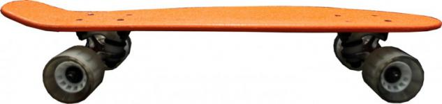 MySkateBrand Oldschool Skateboard Wood Cruiser 70s Style Orange - 25.5 x 5.875 inch - Skateboard Longboard