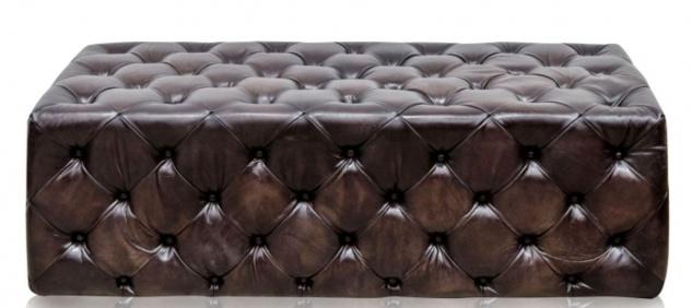 Casa Padrino Luxus Chesterfield Echtleder Fußhocker Rotguss 144 x 64 x H. 46 cm - Luxus Möbel - Vorschau 2