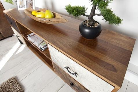 Casa Padrino Luxus Kufell Fernsehschrank Mehrfarbig B.150 x H.60 x T.40 - Sideboard - Kommode - Handgefertigt Massivholz! - Vorschau 4