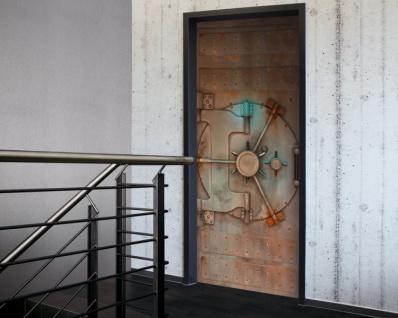 Tür 2.0 XXL Wallpaper für Türen 20010 Tresor - selbstklebend- Blickfang für Ihr zu Hause - Tür Aufkleber Tapete Fototapete FotoTür 2.0 XXL Vintage Antik Stil Retro Wallpaper Fototapete