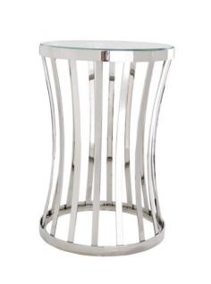 Casa Padrino Luxus Art Deco Designer Beistelltisch 40 x H. 59 cm - Luxus Qualität