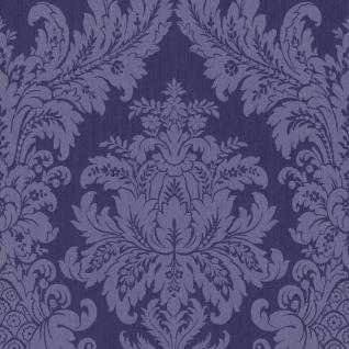 Casa Padrino Barock Textiltapete Blau 10, 05 x 0, 53 m - Luxus Wohnzimmer Tapete