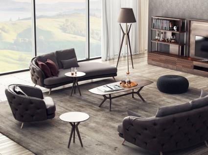 Casa Padrino Luxus Chesterfield Wohnzimmer Sessel Grau / Braun 93 x 90 x H. 75 cm - Wohnzimmer Möbel - Vorschau 2