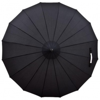 Regenschirm Pagode Schwarz Model Paris - Jugendstil Design - Eleganter Stockschirm - Vorschau 2