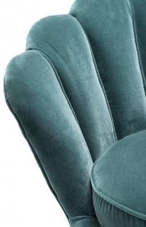 Casa Padrino Designer Wohnzimmer Sessel Dunkeltürkis / Messingfarben 96, 5 x 79 x H. 78 cm - Luxus Wohnzimmermöbel - Vorschau 4