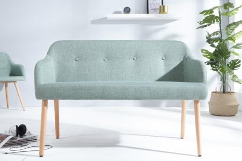 Casa Padrino Designer Sitzbank Hellgrün Breite 116 cm, Höhe 57 cm - Vorschau 5