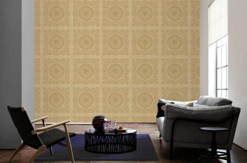 Versace Designer Barock Vliestapete IV 37055-4 - Beige / Gold - Design Tapete - Hochwertige Qualität - Vorschau 2