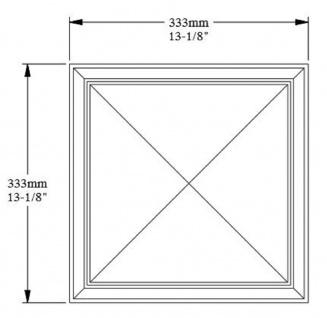 Casa Padrino 3D Paneel Weiß 33, 3 x 3, 5 x H. 33, 3 cm - Wandpaneel - Deckenpaneel - Wanddeko im Barockstil - Vorschau 4