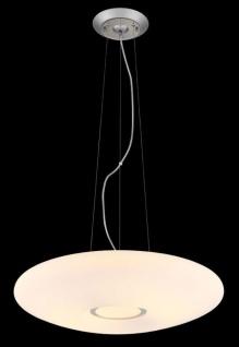 Casa Padrino Luxus Hängeleuchte Weiß / Silber Ø 40 x H. 10 cm - Wohnzimmer Hängelampe - Vorschau 2