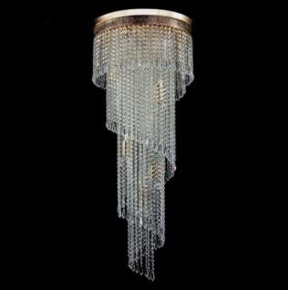 Casa Padrino Barock Kristall Decken Kronleuchter Gold 42 x H 100 cm Antik Stil - Möbel Lüster Leuchter Deckenleuchte Deckenlampe