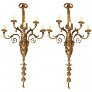 Casa Padrino Barock Wandleuchten Set Bronze Oxidiert Antik Stil - Wandlampe Wand Beleuchtung (2 Leuchten)