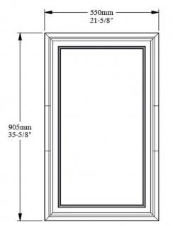 Casa Padrino Wandpaneel Weiß 55 x 1, 7 x H. 90, 5 cm - Rechteckiges Paneel - Deko Accessoires - Vorschau 2