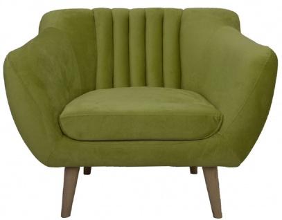 Casa Padrino Luxus Samt Sessel 97 x 81 x H. 83 cm - Verschiedene Farben - Wohnzimmer Hotel Büro Club Sessel - Luxus Möbel