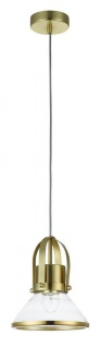 Casa Padrino Luxus Pendelleuchte / Hängeleuchte Messingfarben Ø 18, 5 x H. 23 cm - Leuchten & Lüster