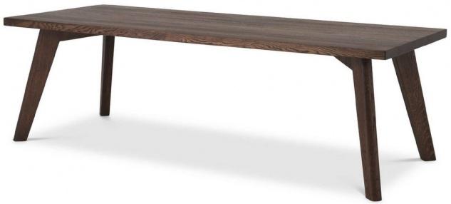 Casa Padrino Luxus Massivholz Esstisch Braun 240 x 100 x H. 76 cm - Rechteckiger Eichenholz Küchentisch - Luxus Massivholz Esszimmer Möbel