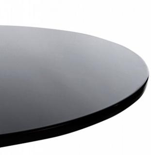 Designer Beistell Tisch aus dem Hause Casa Padrino ABS Höhe 60 cm, Tisch Durchmesser 60 cm Schwarz - Cafe Messe Hotel Praxis Kanzlei Einrichtung Beistelltisch - Vorschau 3