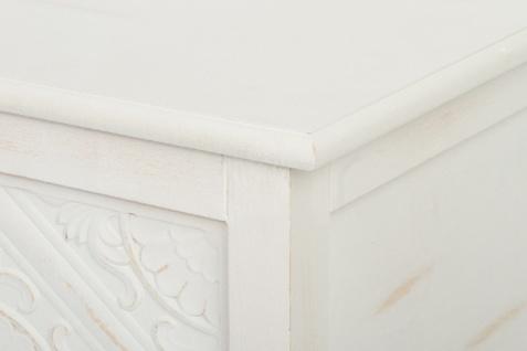 Casa Padrino Landhausstil Couchtisch / Truhe Antik Weiß 115 x 60 x H. 45 cm - Handgefertigter Wohnzimmertisch mit Stauraum - Vorschau 5