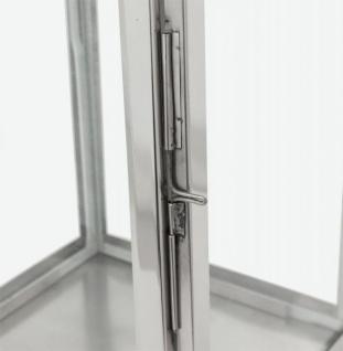 Casa Padrino Designer Laterne Aluminium Silber / Glas - Kerzenleuchter Vintage Stil - Vorschau 2