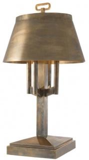 Casa Padrino Luxus Tischleuchte Vintage Messingfarben Ø 52 x H. 85 cm - Hotel & Restaurant Tischlampe