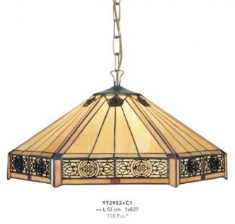 Casa Padrino Tiffany Hängeleuchte Durchmesser 53cm 1-Flammig ModH5 - Leuchte Lampe Deckenleuchte Art Deco Jugendstil