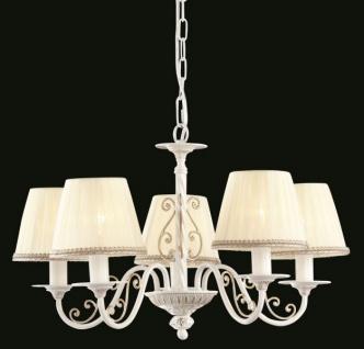 Casa Padrino Barock Decken Kronleuchter Weiß Gold 57 x H 35 cm Antik Stil - Möbel Lüster Leuchter Hängeleuchte Hängelampe - Vorschau