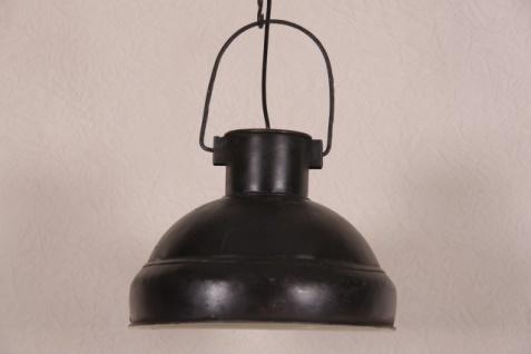 Casa Padrino Hängeleuchte Deckenleuchte Antik Stil Schwarz Industrial Vintage Design 33cm Durchmesser - Industrie Lampe Hänge Leuchte