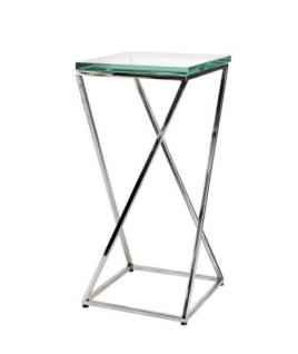 Casa Padrino Luxus Art Deco Designer Beistelltisch 23, 5 x 23, 5 x H. 51 cm - Designer Tisch