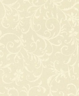 Casa Padrino Barock Textiltapete Creme / Weiß 10, 05 x 0, 53 m - Tapete im Barockstil - Deko Accessoires