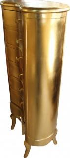 Casa Padrino Barock Kommode Gold mit 7 Schubladen Oval - Antik Stil - Vorschau 2