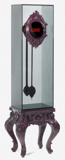 CPBlack Luxus Barock Digital Standuhr by Casa Padrino