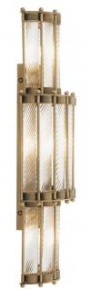 Casa Padrino Luxus Wandleuchte Antik Messingfarben 22, 5 x 15 x H. 65 cm - Wohnzimmerlampe - Vorschau 2
