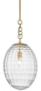 Casa Padrino Luxus Hängeleuchte Antik Messing Ø 30, 5 x H. 68, 6 cm - Pendelleuchte mit eiförmigen Glas Lampenschirm - Wohnzimmer Lampe