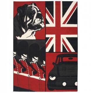 Casa Padrino Designer Teppich 160 x 220 cm Union Jack Bulldog - Läufer - Vorschau 1