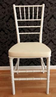 Casa Padrino Designer Acryl Stuhl inkl Sitzkissen Weiß/Creme - Ghost Chair white - Polycarbonat Möbel - Acryl Möbel - Geisterstuhl - Vorschau 2
