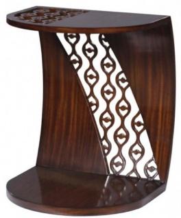 Casa Padrino Luxus Mahagoni Snack Tisch / Beistelltisch Dunkelbraun 42 x 43 x H. 55 cm - Luxus Möbel - Vorschau 3