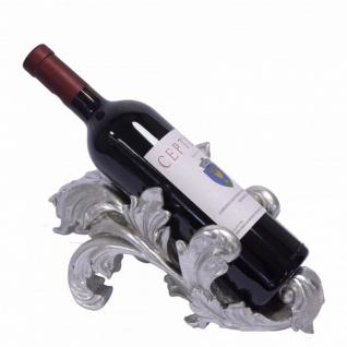 Barock Weinständer Weinregal Weinhalter Silber - Antik Stil Jugendstil - Flaschenhalter